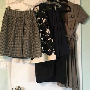 Dresses & Skirts - Lot of 2 Dresses 3 Skirts Mixed Brands size XS